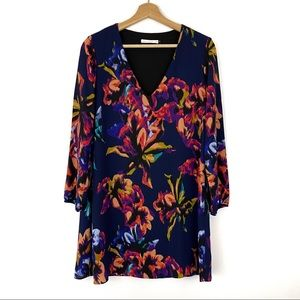 Three Eighty Two Floral Swing Mini Dress Small